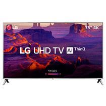 "Smart TV LED 75"" LG 75UK6550, 4K, WI-FI, 4 HDMI, 2 USB, 60 Hz, Conversor DIgital -"