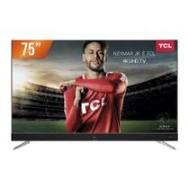 Smart TV LED 75 Ultra HD 4k TCL 75C2US HDMI USB Android TV Wi-Fi Integrado Conversor Digital