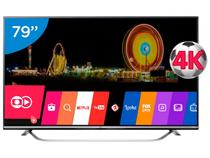 "Smart TV LED 79"" 4K LG 79UF7700 Ultra HD - Conversor Integrado 3 HDMI 3 USB Wi-Fi"