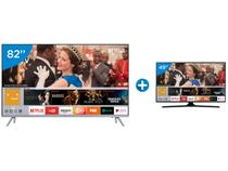 "Smart TV LED 82"" Samsung 4K/Ultra HD MU7000 - Tizen Conversor Digital + Smart TV LED 49"" Samsung"