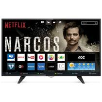 Smart Tv Led AOC 43 Polegadas Full HD Conversor Digital Wi-fi USB HDMI LE43S5970 - Aoc linha marrom
