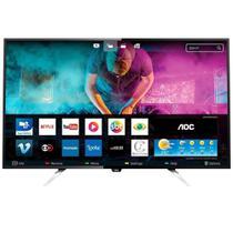"""Smart TV LED AOC 55"""" LE55U7970S 4K UHD 2 USB 4 HDMI Preto -"""