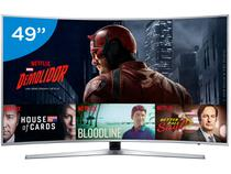 """Smart TV LED Curva 49"""" Samsung 4K/Ultra HD  - KU6500 Conversor Digital Wi-Fi 3 HDMI 2 USB"""