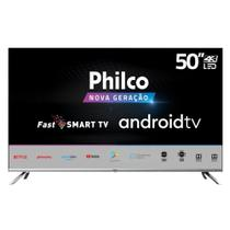 Smart TV LED Philco 50 Polegadas PTV50G71AGBLS 4K Ultra HD Android HDR 4 HDMI