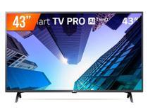 "Smart TV LG 43"" Pro LED Full HD com WiFi, USB, HDMI - Preta - 43LM631C0SB -"