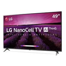 "Smart TV LG 49"" Nano Cell UHD 4K Controle Smart Magic 49SM8000PSA -"