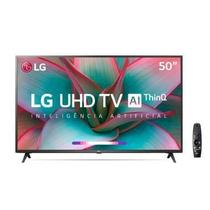 "Smart TV LG 50"" UHD 4K Controle Smart Magic ThinQ Ai 50UN7310PSC -"