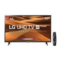 """Smart Tv LG 50"""" UHD 4K HDR Ativo Com Inteligência Artificial ThinQ AI, DTS Virtual X, WebOS 4.5 - Preta -"""