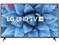 Smart TV LG 55'' 4K, UHD, Wi-Fi, Bluetooth, HDR, Inteligência Artificial ThinQ AI Google Assistente 55UN7310PSC -