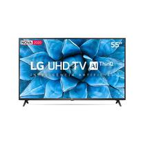 "Smart TV LG 55"" 4K, UHD, Wi-Fi, Bluetooth, HDR, Inteligência Artificial ThinQ AI, Google Assistente, Alexa -"