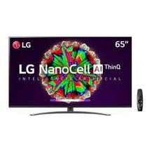 "Smart TV LG 65"" 4K IPS NanoCell 65NANO81 WiFi Bluetooth HDR Inteligência Artificial ThinQAI Google Alexa -"