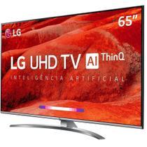 """Smart TV LG 65"""" UHD 4K Controle Smart Magic ThinQ AI 65UM7650 -"""