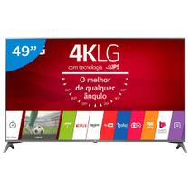Smart TV LG LED 49 Polegadas 4K Ultra HD webOS Conversor Digital 2 USB 4 HDMI 49UJ6565 - Lg Som Imagem