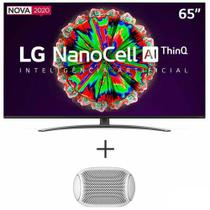 "Smart TV NanoCell 4K LG 65"" com Controle Smart Magic - 65NANO81SNA + Caixa de Som XBOOM Go LG  Branca - PL2W -"