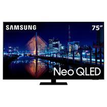 """Smart TV Neo QLED 75"""" 4K Samsung 75QN85A, Mini Led, Painel 120hz, Processador IA, Som em Movimento, Tela sem limites, Design slim, Alexa built in -"""