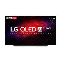 "Smart TV OLED 55"" 4K LG Inteligência Artificial ThinQ AI Smart Magic 4 HDMI 3 USB WiFi Bluetooth-OLED55CXPSA -"