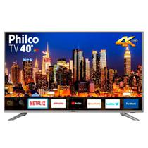 Smart TV Philco 40 Polegadas Led 4K 40PTV40G50SNS Prata -