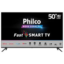 Smart TV Philco 50 Polegadas PTV50G70SBLSG 4K LED Preto Bivolt -