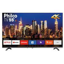 Smart TV Philco 55 Polegadas LED UHD 4K Triple Core com Conexão Wi-Fi Entradas USB e HDMI PTV55Q20NBL -