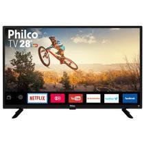 Smart TV Philco Led 28 Pol Recepção Digital Entrada HDMI Resolução HD 1366X768p - Bivolt -