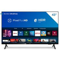 Smart TV Philips 43'' PHG682578 HD sem Bordas HDR Plus 3 HDMI 2 USB Wifi Miracast Preta -