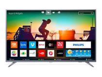 "Smart TV Philips 50"" LED Ultra HD 4K Wi-Fi HDMI - Prata  Bivolt - 50PUG6513/78 -"