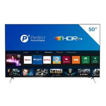 Smart TV Philips 50PUG762578 4K UHD P5 HDR10 Bluetooth Wi-Fi 3 HDMI 2 USB Borda Ultrafina Preta -