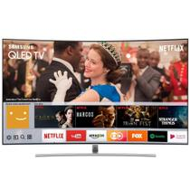 "Smart TV QLED 75"" Samsung QN75Q8CAM Tela Curva 4K Ultra HD HDR Wi-Fi 3 USB 4 HDMI e 240Hz -"