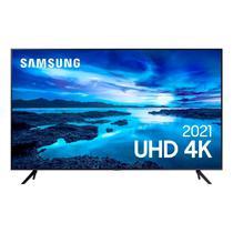 "Smart TV Samsung 50"" UHD 4K 50AU7700, Processador Crystal 4K, Tela sem limites, Visual Livre de Cabos, Alexa built in, Controle Único -"