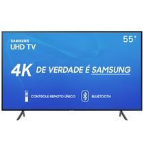 "Smart TV Samsung 55"" UHD 4K 2019 UN55RU7100GXZD Visual Livre de Cabos HDR Design Premium Tizen Wi-Fi -"