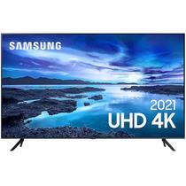 "Smart TV Samsung 70"" UHD 4K UN70AU7700GXZD Processador Crystal 4K Tela Sem Limites Alexa Built In -"