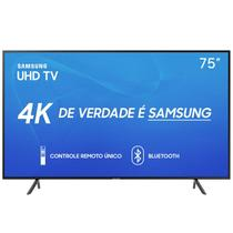 "Smart TV Samsung 75"" UHD 4K 2019 UN75RU7100GXZD Visual Livre de Cabos HDR Design Premium Tizen Wi-Fi -"