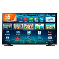 Smart TV Samsung LED 55 Polegadas 4K Ultra HD HDR Preta LH55BENELGA/ZD -