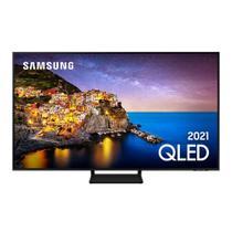 Smart TV Samsung QLED 4K 55Q70A Design Slim Modo Game Som em Movimento Virtual Tela Sem Limites -
