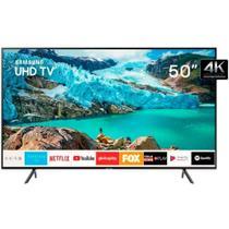 Smart TV Samsung QLED 50 Ultra HD 4K HDR 2019 RU7100 UN50RU7100GXZD - Gigabyte