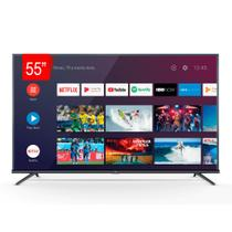 """Smart TV TCL 55"""" LED 4K UHD 55P8M, Android TV, Wi-Fi, Bluetooth e Controle com Comando de Voz -"""