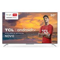 "Smart TV TCL LED Ultra HD 4K 50"" Android TV com Google Assistant, Bordas Ultrafinas e Wi-Fi - 50P715 -"