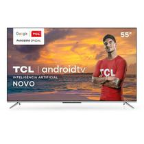 "Smart TV TCL LED Ultra HD 4K 55"" Android TV com Google Assistant, Borda Ultrafina e Wi-Fi - 55P715 -"