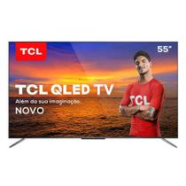 "Smart TV TCL QLED Ultra HD 4K 55"" Android TV com com Google Assistant, Design sem Bordas e Wi-Fi - QL55C715 -"