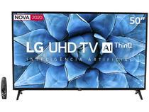 "Smart TV UHD 4K LED 50"" LG 50UN7310PSC Wi-Fi - Bluetooth Inteligência Artificial 3 HDMI 2 USB"