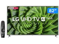 "Smart TV UHD 4K LED 82"" LG 82UN8000PSB Wi-Fi - Bluetooth HDR Inteligência Artificial 4 HDMI 3 USB"