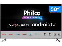 "Smart TV UHD D-LED 50"" Philco PTV50G71AGBLS - Android Wi-Fi Inteligência Artificial 4 HDMI 2USB"