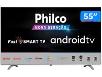 "Smart TV UHD D-LED 55"" Philco PTV55Q20AGBLS - Android Wi-Fi 3 HDMI 2 USB"