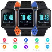 Smart Watch A6 Relógio Inteligente Monitor Esportes Fitness Corrida Exercícios Cardio Laranja - Lx