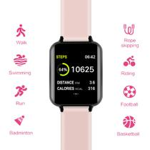 Smart Watch B57 Relógio Inteligente App Hero Band - Rosa - B smart