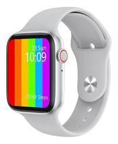 Smart watch ivo 12 lite prata ou w26 troca puls rel inteligente 2020 - GlobalWatch