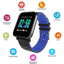 Smart Watch Relógio Inteligente Sports A6 Monitor Esportes Fitness Android/Ios Azul - Lx