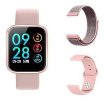 Smart Watch Relógio Oled P70 + Duas Pulseiras - Smartwatch Rosa -