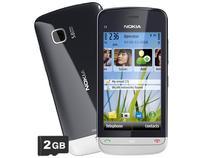 Smartphone 3G Nokia C5-03 Touch Desbloqueado Claro - Câmera 5MP Bluetooth Wi-Fi A-GPS Cartão 2GB