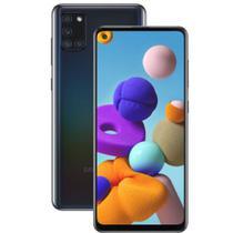 """Smartphone A21s - 64gb  -  4gb RAM - preto - 6,5"""" Câmera Quádrupla - Bateria 5000 mAh - Samsung"""